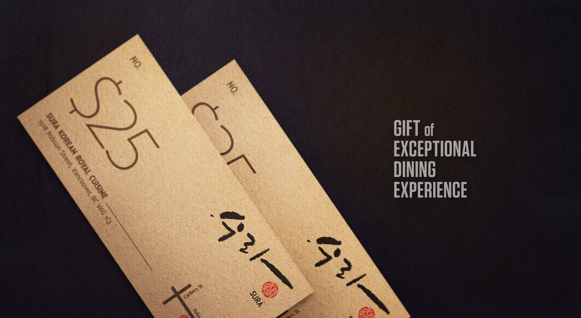 Gift of exceptional dining experience