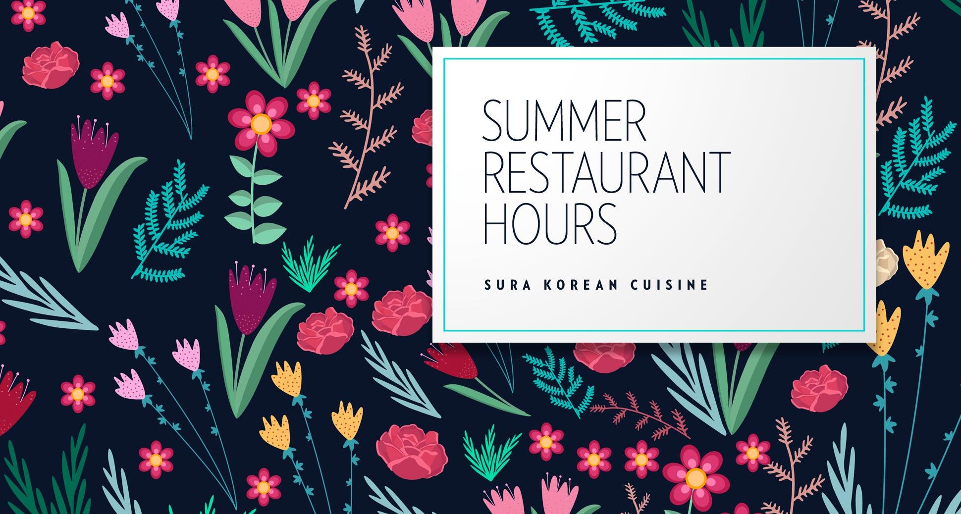 Summer season restaurant hours