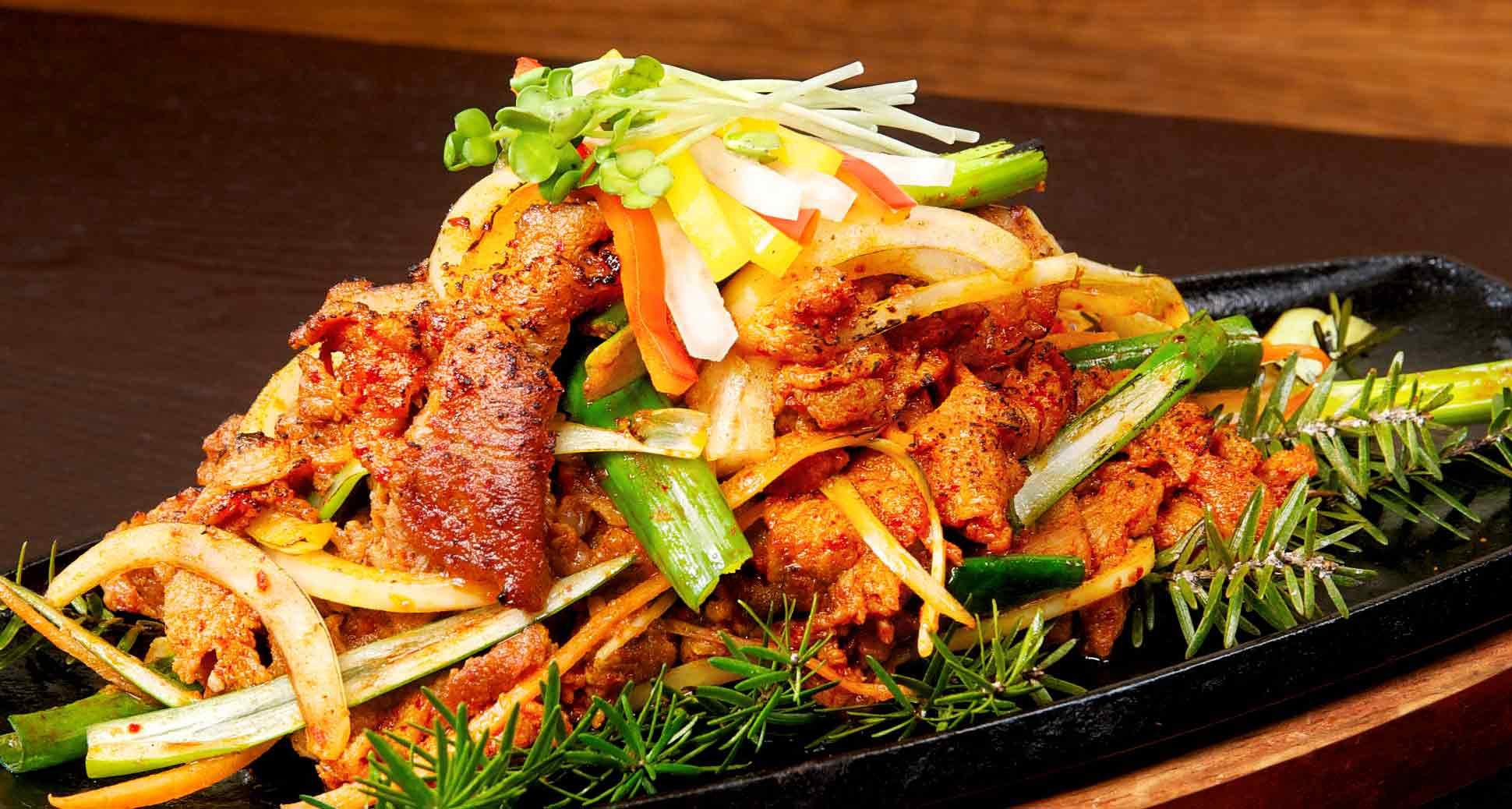 Spicy Sliced Pork: Another Highly Popular Korean BBQ dish